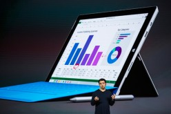 Microsoft Corporate Vice President Panos Panay introduces Microsoft Surface Pro 4 at a media event in October.