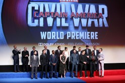 The cast and crew attend the world premiere of Marvel's