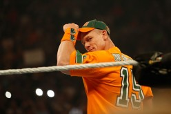 John Cena enters the ring at the WWE SummerSlam 2015.
