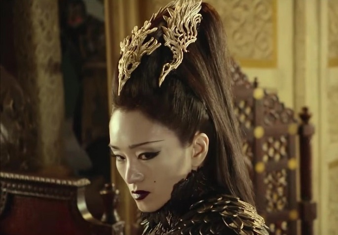 """If the audience believes in my performance, that's what makes me happiest,"" said Gong Li in one interview. (Above) She portrayed Baigujing (White Bone Demon) in ""Monkey King 2"" (2016)."