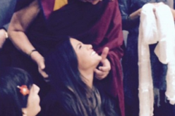 Selena Gomez pictured with the Dalai Lama in 2014.