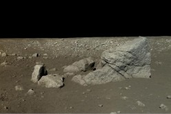 Photo provided by National Astronomical Observatories of Chinese Academy of Sciences shows a high-resolution image of lunar surface on the moon. The image is shot by Chinese Chang'e 3, an unmanned lunar exploration probe, and Yutu rover.