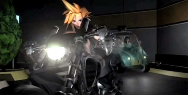 Cloud Strife and friends arrive at the scene to battle enemies.