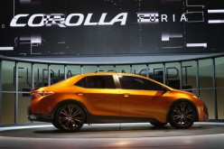Toyota introduces the Corolla Furia Concept car at the North American International Auto Show on Jan. 14, 2013 in Detroit, Michigan.