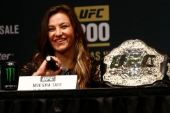Miesha Tate appears during a media availability for UFC 200 at Madison Square Garden.