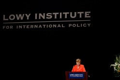 A Lowy Institute for International Policy report says that China's island-building program in the South China Sea should be stopped.