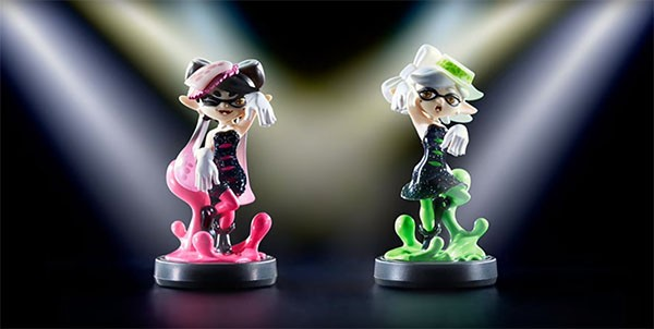 "Callie and Maire, the Squid Sisters, ""Splatoon"" amiibo figures announced and displayed by Nintendo."